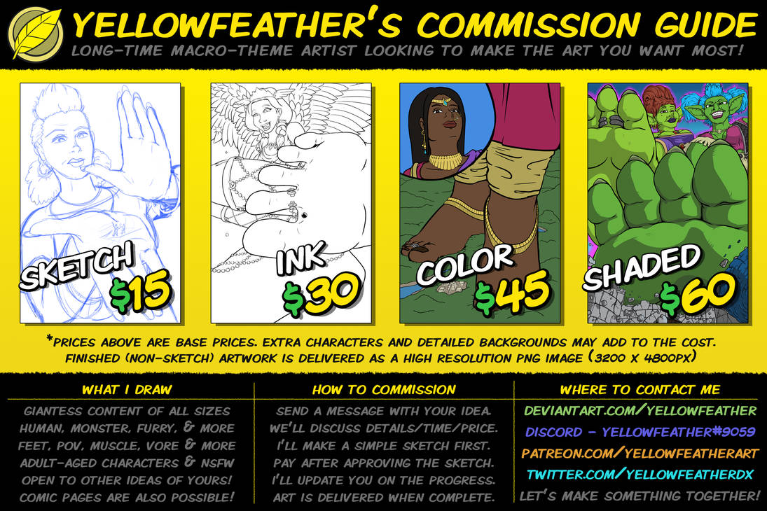 Yellowfeather's Commission Guide