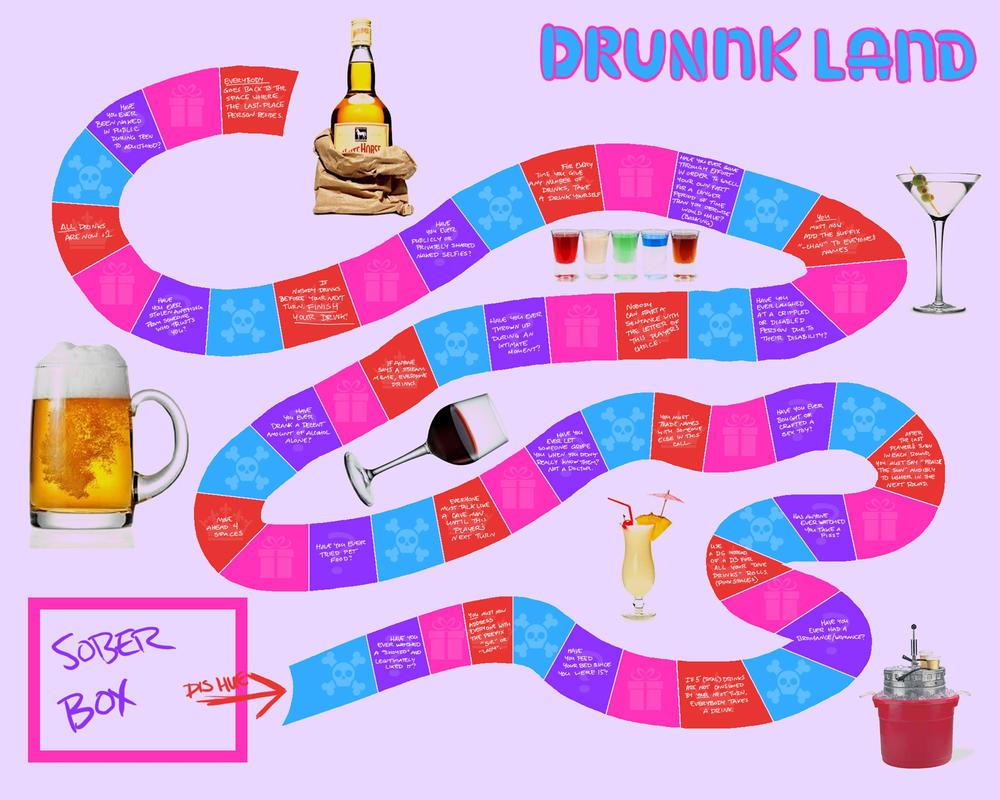 Drinking Game [Drunkland board] by HoodieSlenderverse on DeviantArt