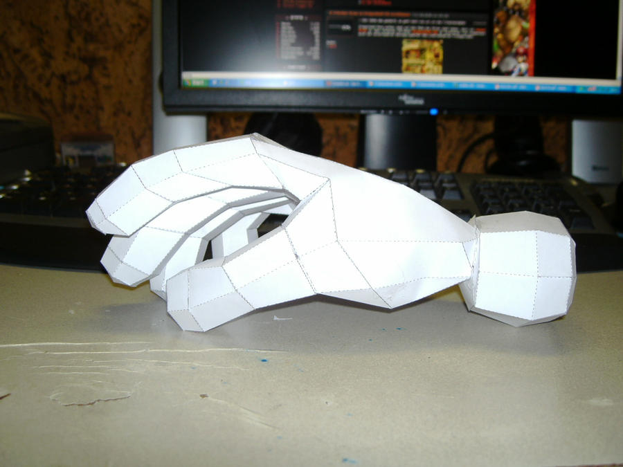 Papercraft Master Hand 3 by Esteban1988