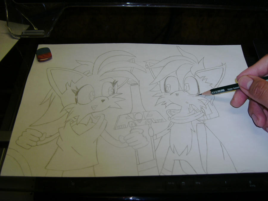 Eure Skizzen/Zeichnung! Me_drawing_Lyn_and_Ike_by_Esteban1988