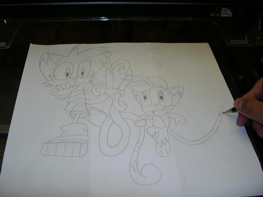 Eure Skizzen/Zeichnung! Me_drawing_Gar_and_Nom_Nom_by_Esteban1988