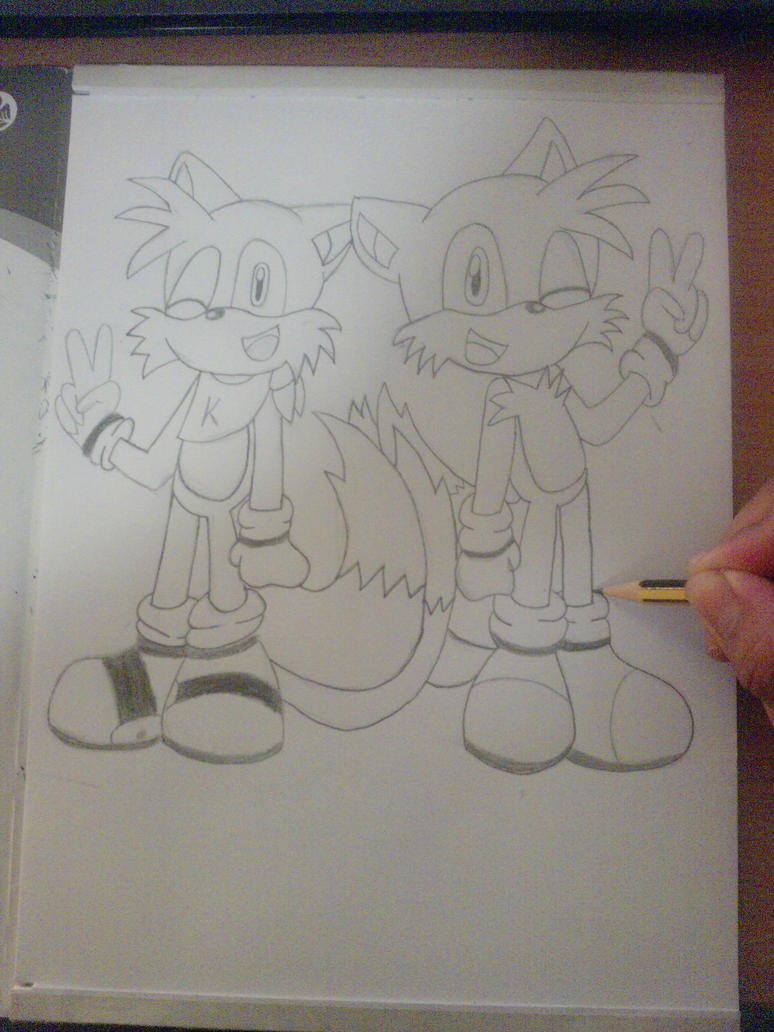 Eure Skizzen/Zeichnung! - Seite 2 Me_drawing_keding_and_tails_by_esteban1988-d31ofwq