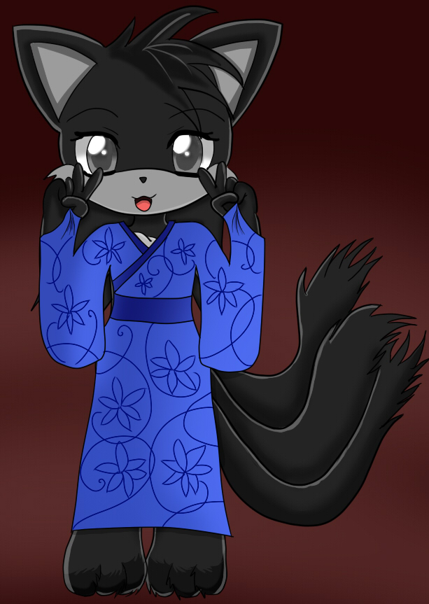Attempt Little Tails Style: Kimiko in a Kimono by Esteban1988