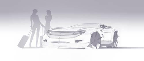 2013, SKETCH Nro 1 ford Ds1, 2013, boceto, colorea by EstebanGuzman