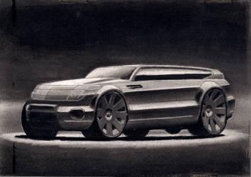 2011, SKETCH Nro 1, 2011, carbon sobre papel, 27x2 by EstebanGuzman