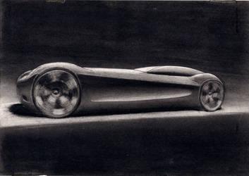 2011, SKETCH Nro 3, 2011, carbon sobre papel, 27x2 by EstebanGuzman