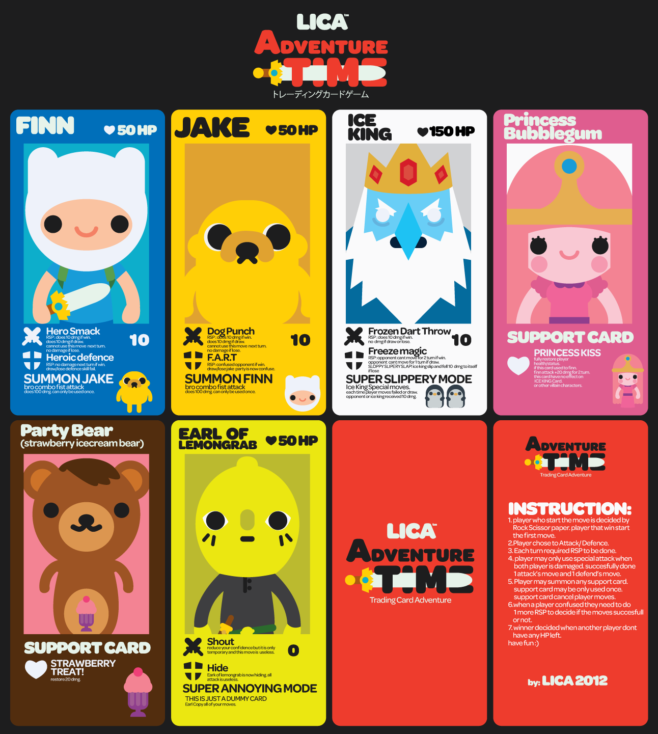 lica TCG x adventure time by bunnypistol69