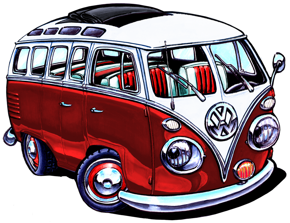VW Bus Red Version By ADStamper
