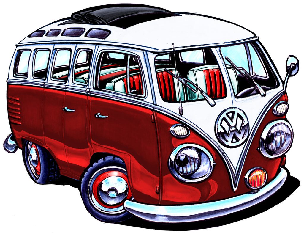 Vw Bug Camper >> VW Bus, Red Version by ADStamper on DeviantArt