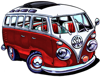 VW Bus, Red Version by ADStamper