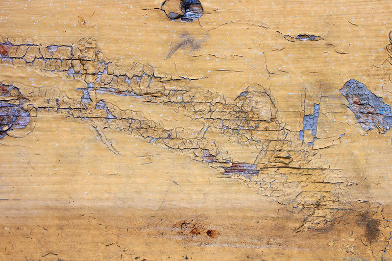 Cracked Yellow Painted Wood by texturejunky