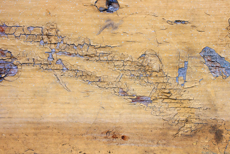Cracked Yellow Painted Wood