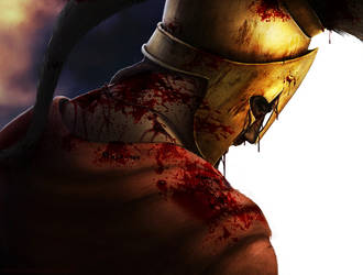 King Leonidas last breath by Timskoglund