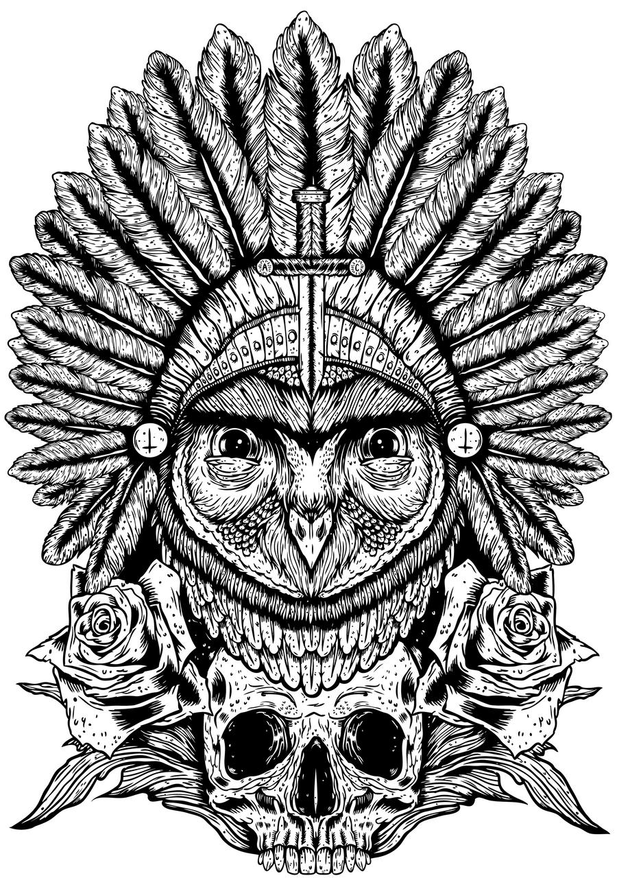 Aurelias owl by alexunderwood on deviantart for Cool drawings of owls