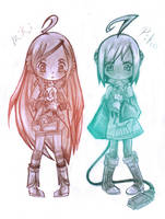 Piko Y Miki Vocaloid by alexhatsune