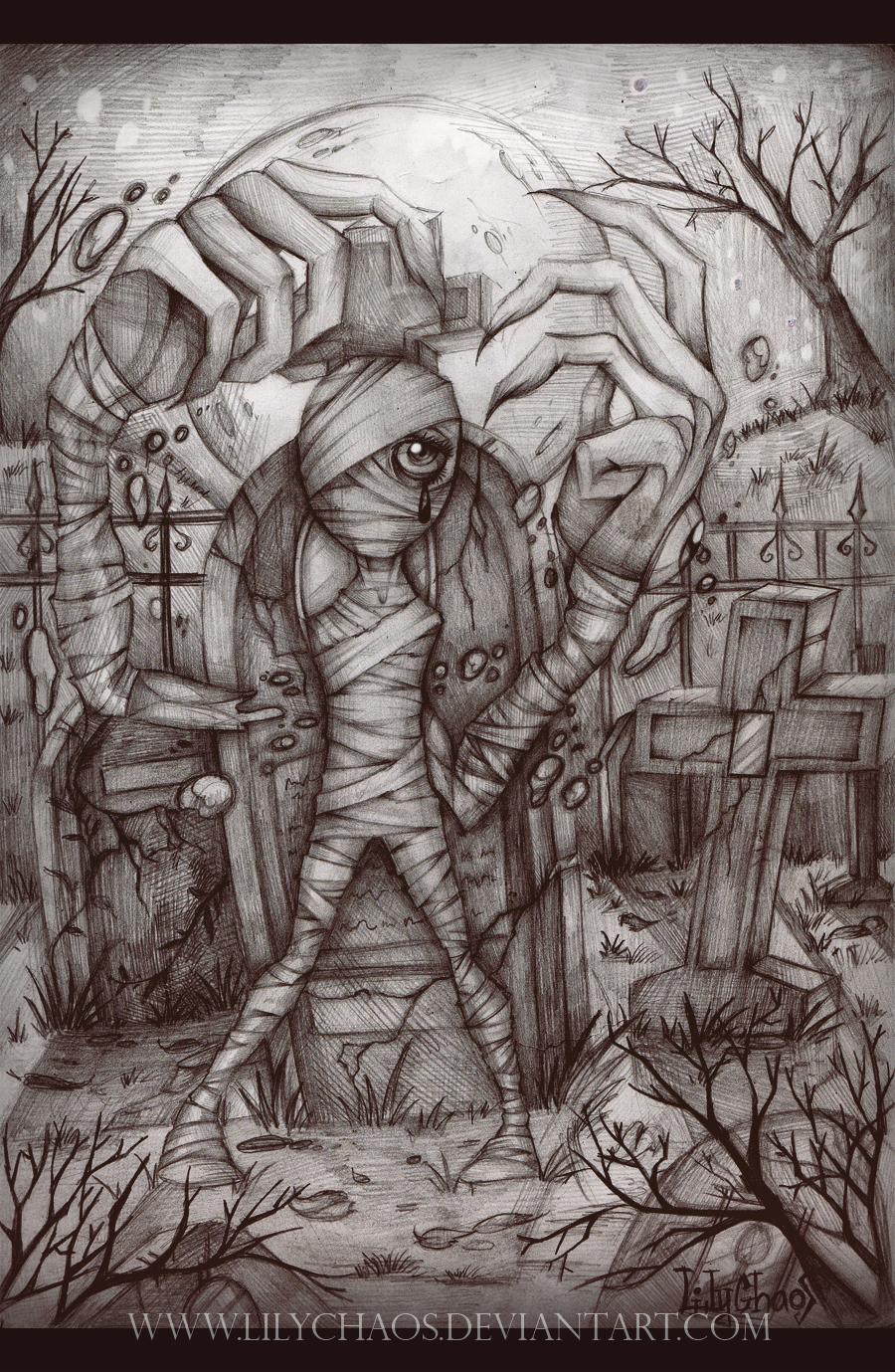 Mummified girl by LilyChaoS