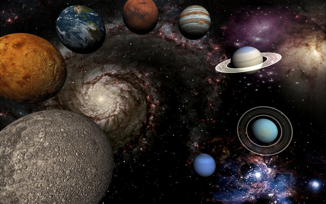 Planets and galaxy by dvliac on deviantart - Galaxy and planets ...