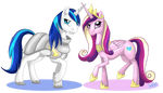 Princess Cadance and Shining Armor