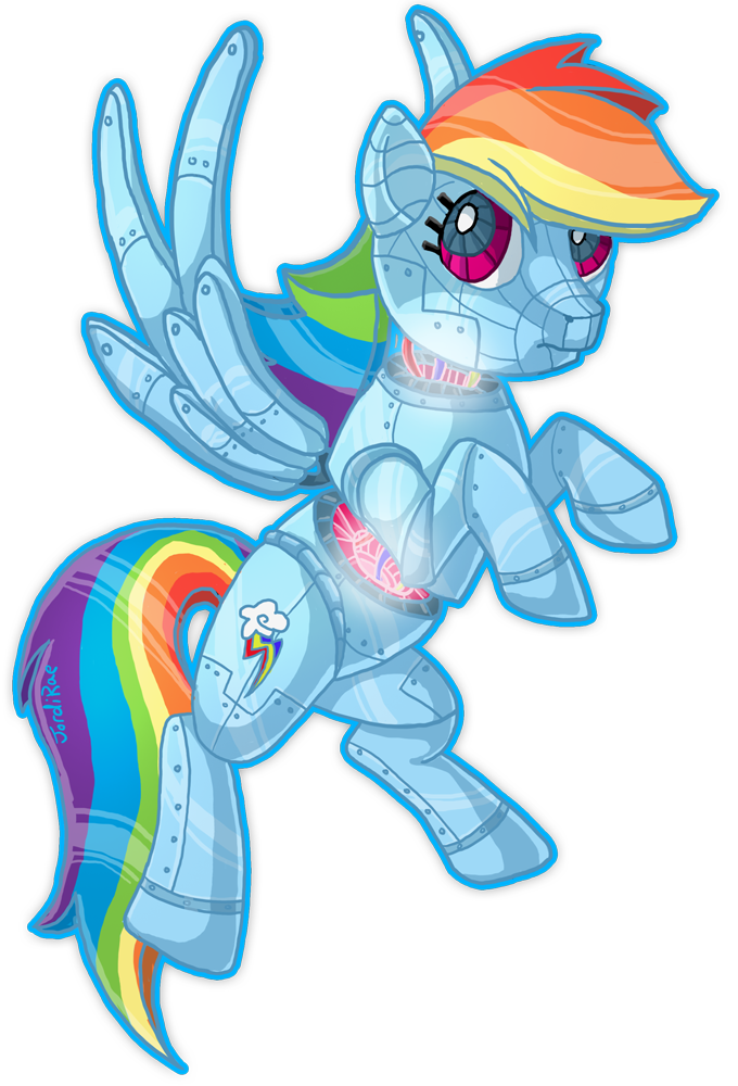 Rainbow Dash Robot by xxMoonwish on DeviantArt