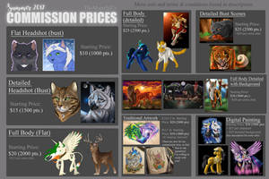 Current Commission Prices (Summer/Fall '17)