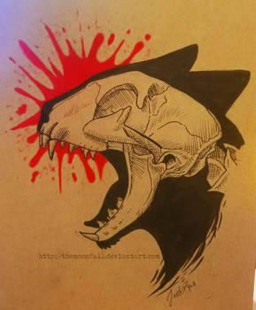 Cat Skull Design