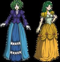 Nino and Rebecca: Fancy Fire Emblem Females by DeathbyChiasmus