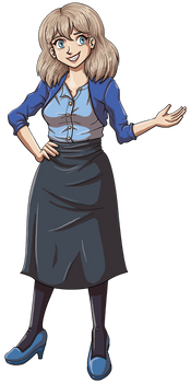 Joyce from Dumbing of Age in her Sunday Best