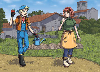 Harvest Moon - Mark Compliments Natalie by DeathbyChiasmus