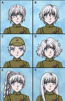 Commission: Weiss Schnee Hairstyle Selector by DeathbyChiasmus