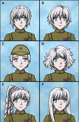 Commission: Weiss Schnee Hairstyle Selector