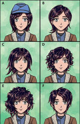 Commission: Ruby Rose Hairstyle Selector