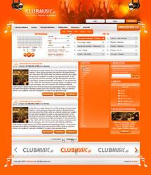 Club Music site by SnowyART