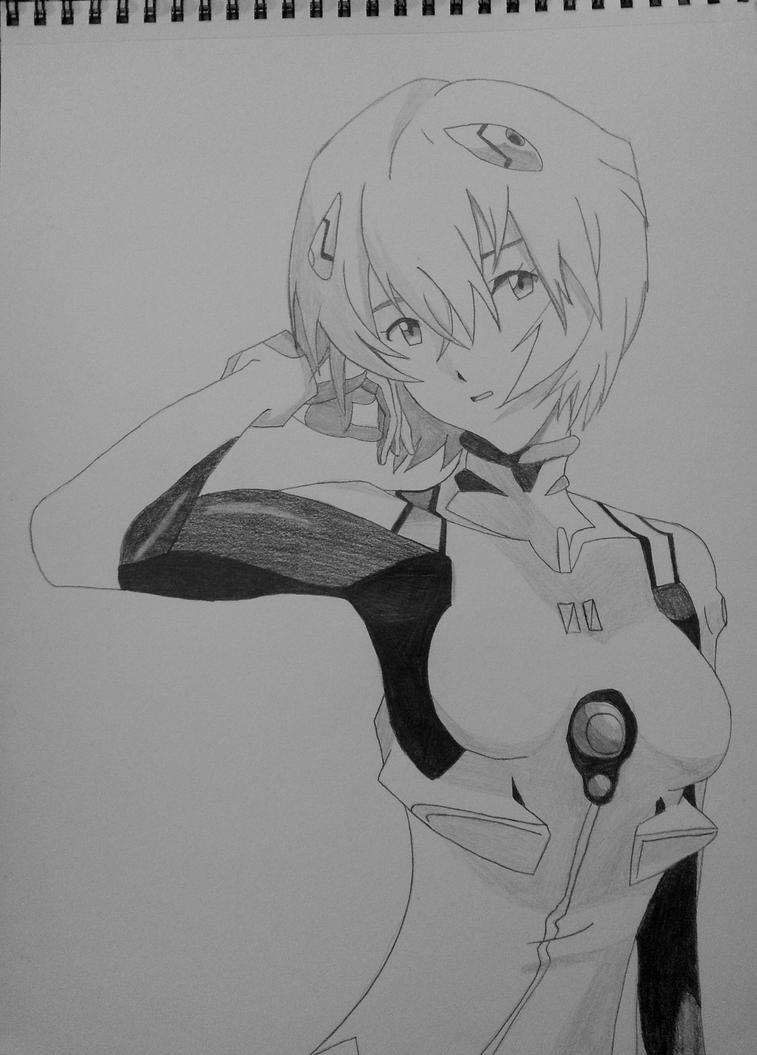 Rei Ayanami Sketch (9) by AaragonNega