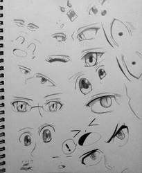 Anime Eye Reference Doodles! by AaragonNega