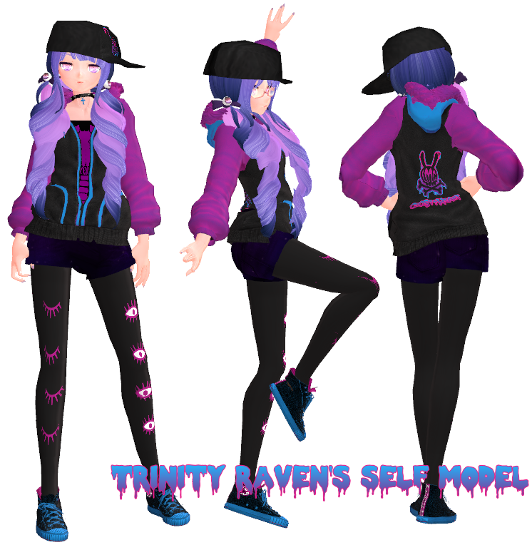 MMD: Self-Model +DOWNLOAD UP By TrinityRaven On DeviantArt