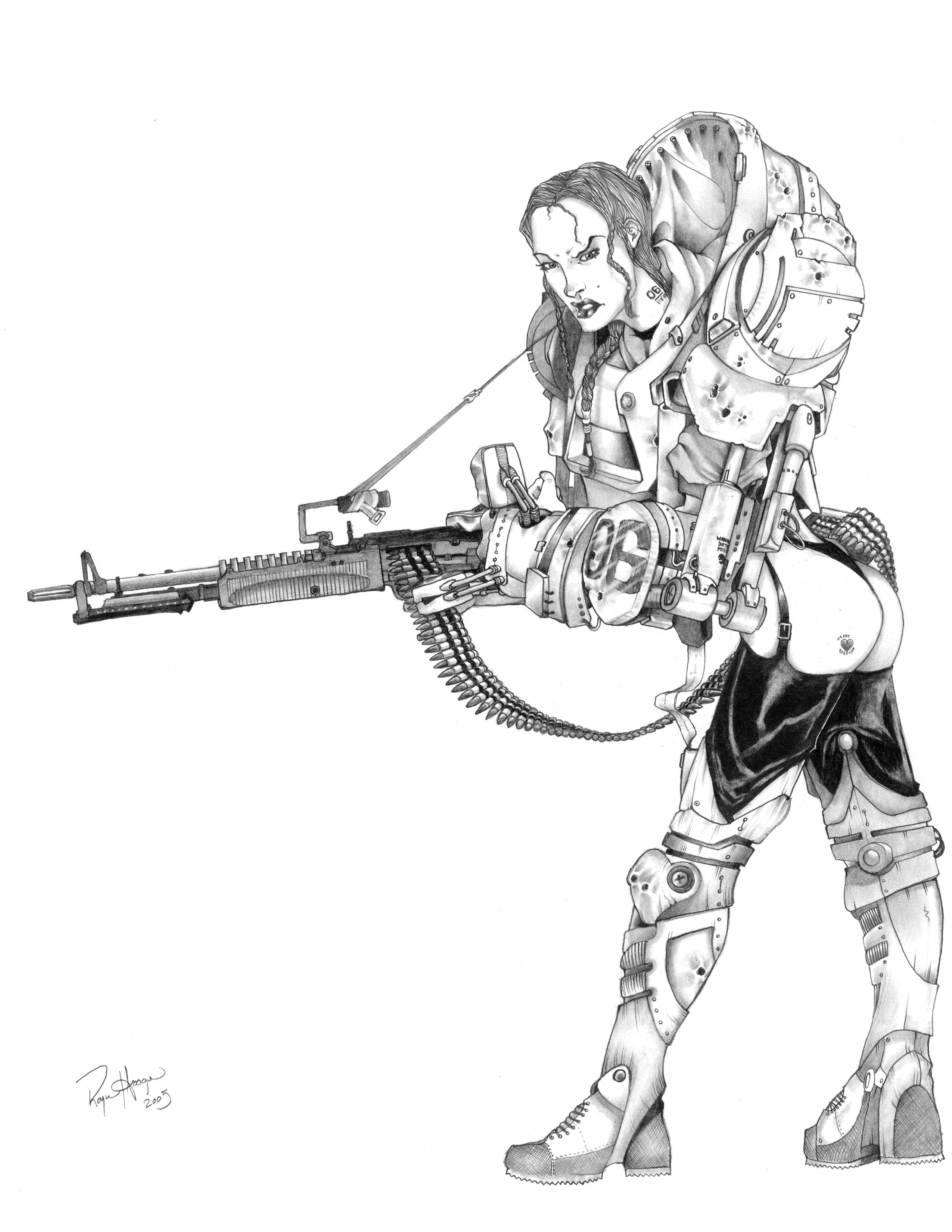 Machine-Gun-Mary by rhoogers on DeviantArt