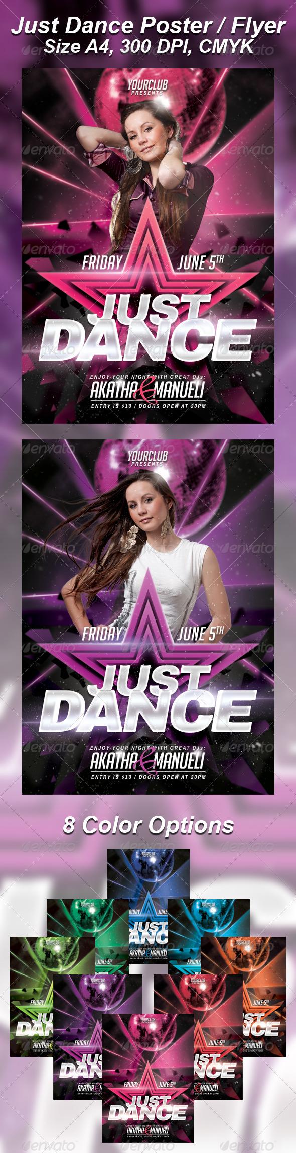 A4 Just Dance Party Club Flyer 8in1 by Ondrejvasak