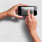 Female Hands with Smartphone Photorealistic Mockup
