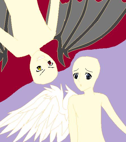 angel n devil base by grimmjow345 on deviantart