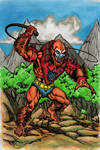 Beast-man in the vine jungle