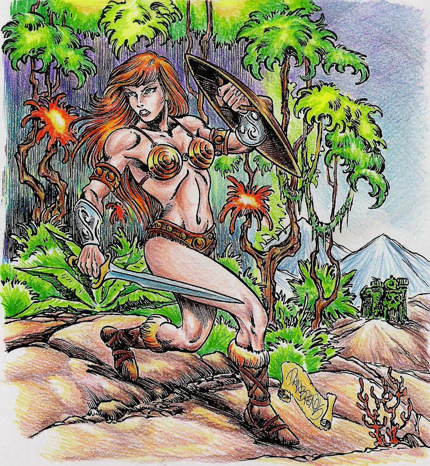 Barbarian Teela by danbrenus