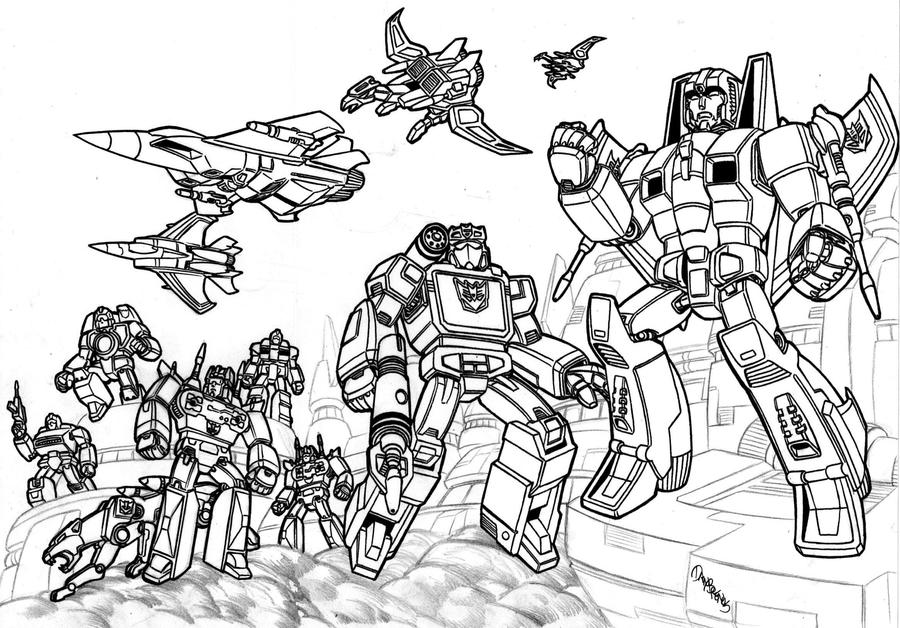 transformers coloring pages decepticons - photo#7