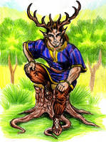 Cernunnos god of wilderness by danbrenus