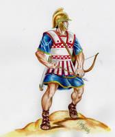 Cretan archer by danbrenus