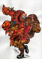 Beast-man vs Grizzlor by danbrenus
