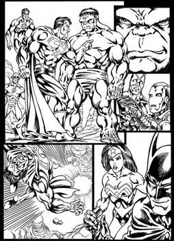 #inktober 2018: Superman vs Hulk page 1