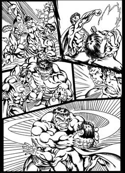 #inktober 2018: Superman vs Hulk page 2