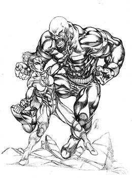 Megawoman vs Capt.X