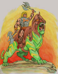 Battle Armor He-man on Battlecat