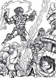 Anti-Heman vs Castle Grayskull-man